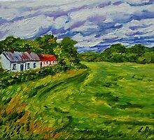 """""""Deserted Cottages on The Loup Road, near Cookstown, County Tyrone. """" by Laura Butler"""