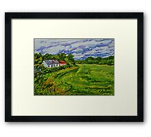 """""""Deserted Cottages on The Loup Road, near Cookstown, County Tyrone. """" Framed Print"""