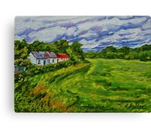 """Deserted Cottages on The Loup Road, near Cookstown, County Tyrone. "" Canvas Print"