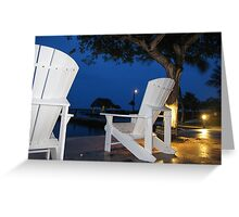 White chairs. Greeting Card