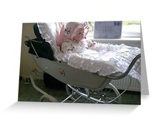 Doll's pram Greeting Card