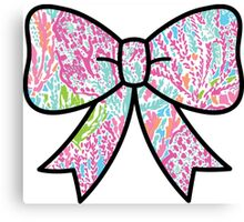 Lilly Pulitzer Inspired Bow Lets Cha Cha Canvas Print