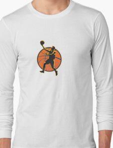 Basketball Player Lay Up Ball Long Sleeve T-Shirt