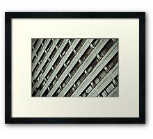 Block of Flats B&W Framed Print