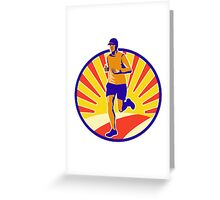 Marathon Runner Athlete Running Greeting Card