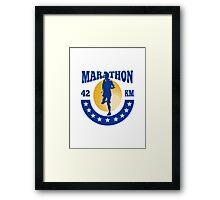Marathon Runner Athlete Running Framed Print
