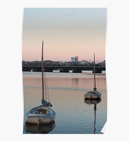 Charles River Sunrise Poster