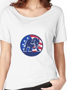 Republican Elephant Mascot USA Flag Women's Relaxed Fit T-Shirt