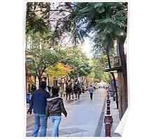 Street scene. Poster