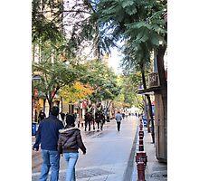Street scene. Photographic Print