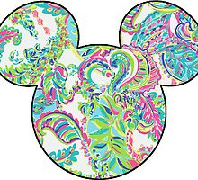 Lilly Pulitzer Inspired Mouse Ears Toucan Play by mlr28blu