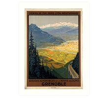 Vintage poster - Grenoble Art Print