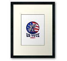 Republican Elephant Mascot USA Flag Vote Framed Print