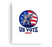 Republican Elephant Mascot USA Flag Vote Canvas Print