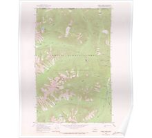 USGS Topo Map Washington State WA Frosty Creek 241235 1969 24000 Poster