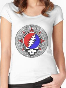 Mayan Calendar Steal Your Face - Basic Color Women's Fitted Scoop T-Shirt