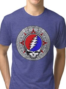 Mayan Calendar Steal Your Face - Basic Color Tri-blend T-Shirt