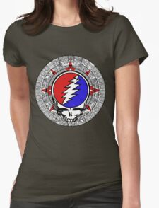 Mayan Calendar Steal Your Face - Basic Color Womens Fitted T-Shirt