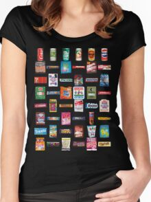 80s Junk Food Women's Fitted Scoop T-Shirt