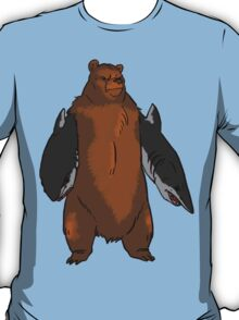 Bear with Shark Arms! - Large T-Shirt