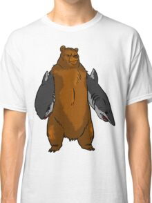 Bear with Shark Arms! - Large Classic T-Shirt