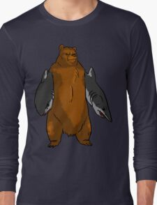 Bear with Shark Arms! - Large Long Sleeve T-Shirt
