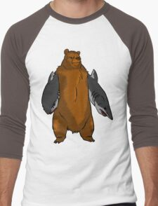 Bear with Shark Arms! - Large Men's Baseball ¾ T-Shirt