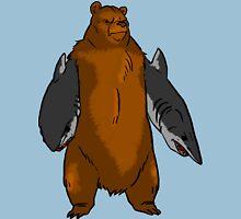 Bear with Shark Arms! - Large T-Shirt