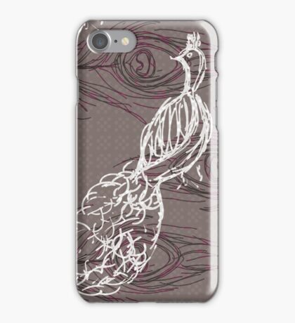 CARDBOARD PEACOCK iPhone Case/Skin