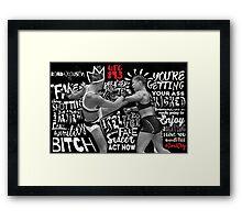 Ronda Rousey Got Rocked Framed Print