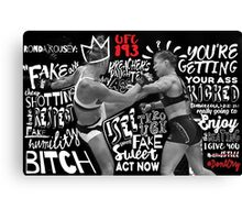 Ronda Rousey Got Rocked Canvas Print
