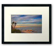 miragem sunset and the moon Framed Print