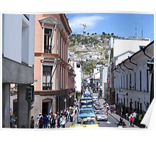 Quito street. Poster