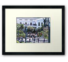 Plaza Grande. Framed Print