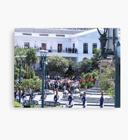 Plaza Grande. Canvas Print