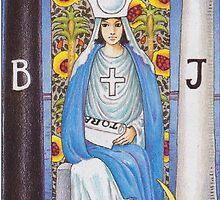 Tarot Card - The High Priestess by TexasBarFight