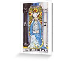 Tarot Card - The High Priestess Greeting Card