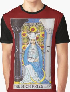 Tarot Card - The High Priestess Graphic T-Shirt