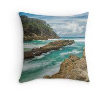 The Silky Sea Throw Pillow