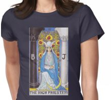 Tarot Card - The High Priestess Womens Fitted T-Shirt