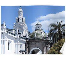 Quito architecture. Poster