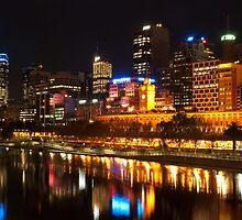 0833 City at Night 2 by DavidsArt