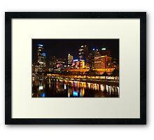 0833 City at Night 2 Framed Print