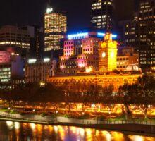 0833 City at Night 2 Sticker