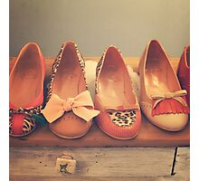 Vintage Shoes and Heels  Photographic Print