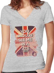 Honey, You Should See Me In This Shirt Women's Fitted V-Neck T-Shirt