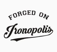 forged on ironopolis Kids Tee