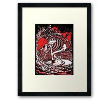 SURFER SKULL Framed Print