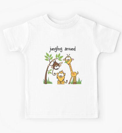"""""""Jungling Around"""" Kids Tee"""