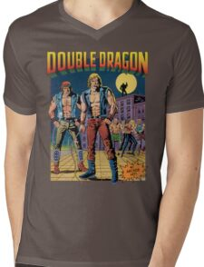 Double Dragon Mens V-Neck T-Shirt